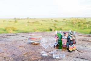 wayo walking camp serengeti sundowner drinks