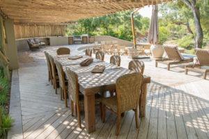 amani safari camp dinner deck