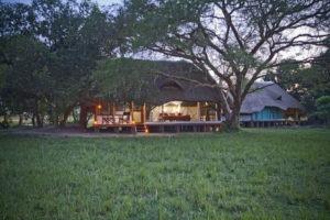 bakers lodge uganda cottage sunset