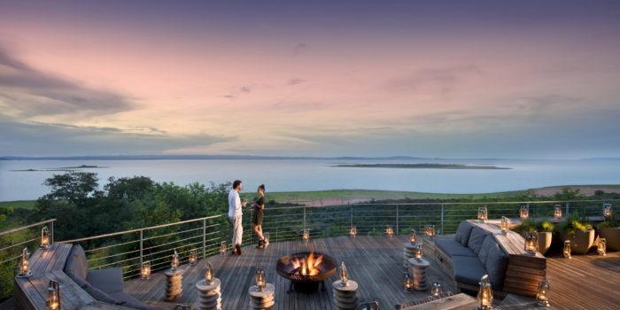 bumi hills safari lodge fireplace view