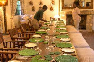 bwindi lodge uganda table