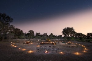 khwai tented camp botswana bush dinner