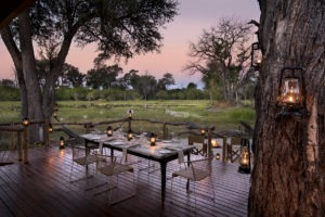 khwai tented camp botswana dining