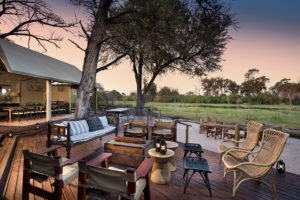 khwai tented camp botswana lounge