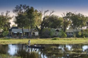 khwai tented camp botswana mokoro view