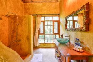 primate lodge kibale cottage bathroom