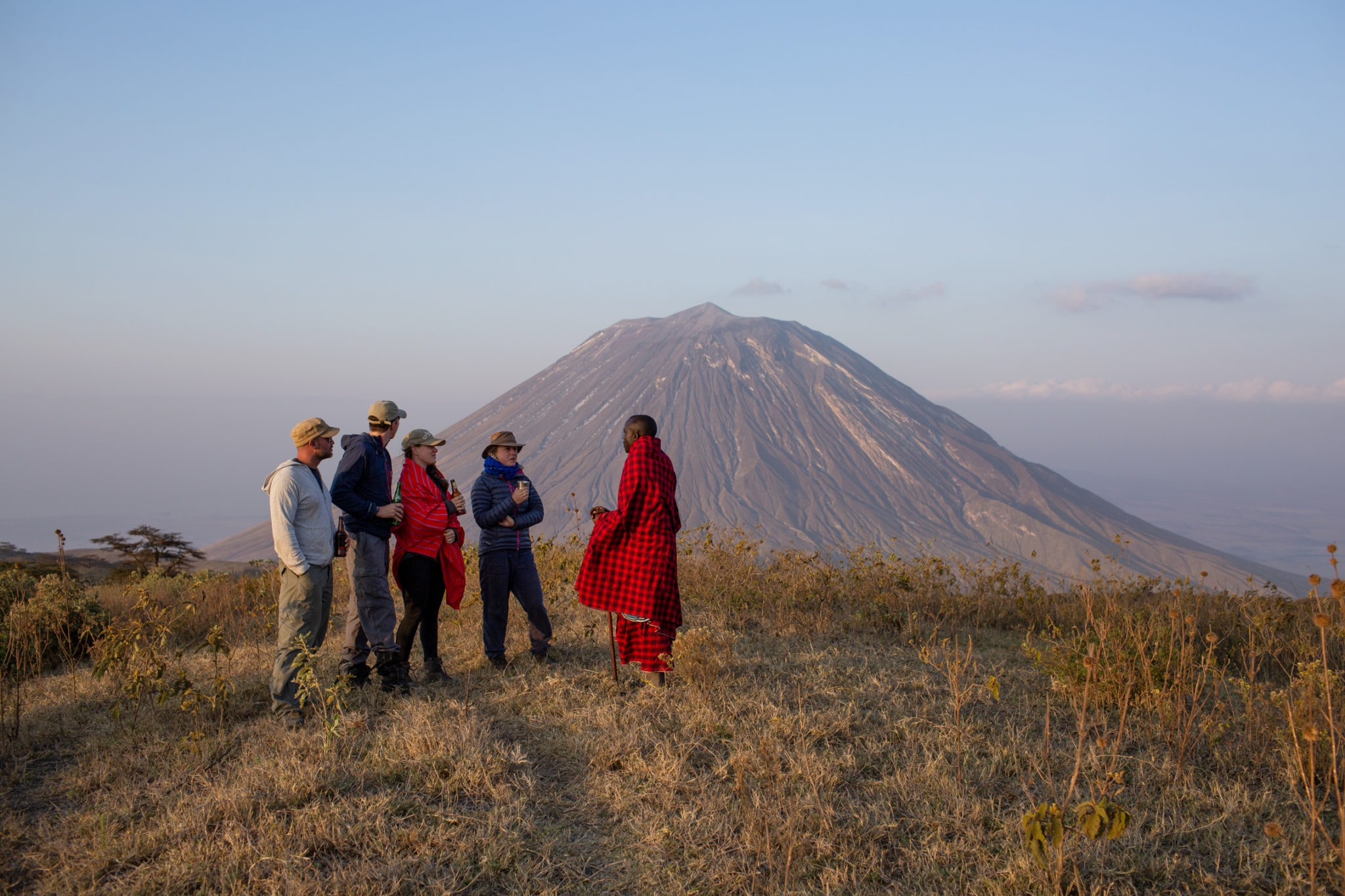 rift valley trekking tanzania masaai sundowners