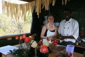 Izzy and Godfrey cooking