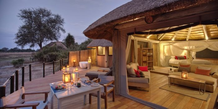 Lion Camp by Mantis Deluxe Suite private dinner Kopie