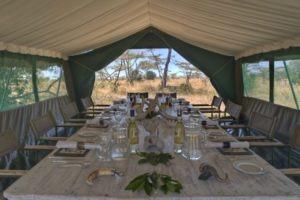 Horse Safari Dinner table
