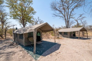 mobile safari botswana luxury tent outside